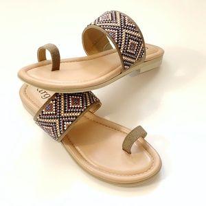 Argento by Cordani Beaded Suede Loop Toe Sandal